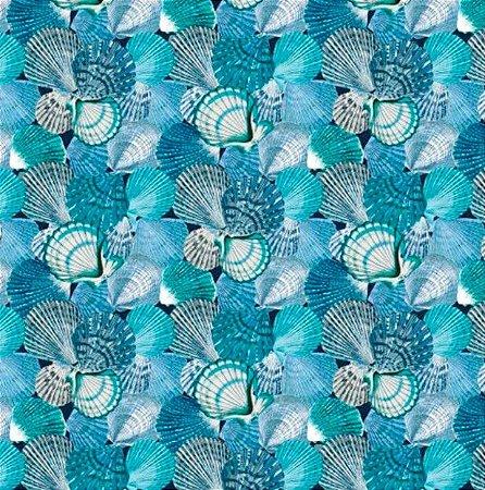 Tecido para Moveis Coquile Azul-Tiffany-Cinza - Acquablock 10