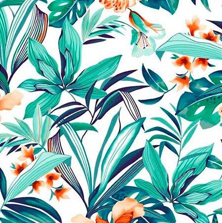 Tecido para Moveis Sardegna Laranja-Tiffany Floral - Acquablock 14