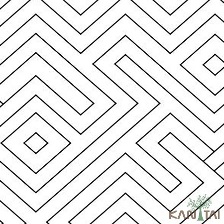 Papel de Parede Stone Age 2 - Labirinto Preto e Branco - SN605704R