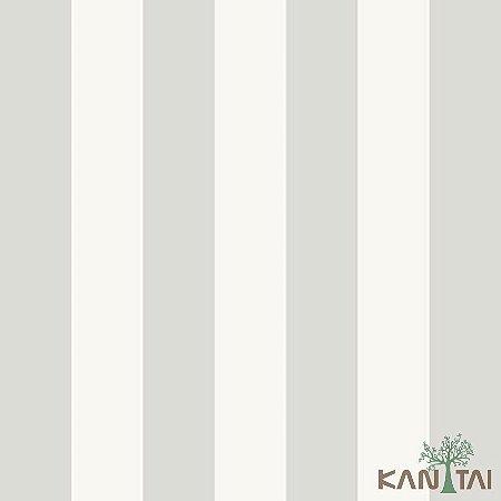 Papel de Parede Stone Age 2 - Branco com Listras Pratas - SN605802R