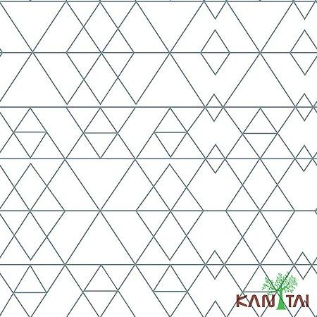 Papel de Parede Stone Age - Bipirâmide Quadrada - Branco - SN600502R