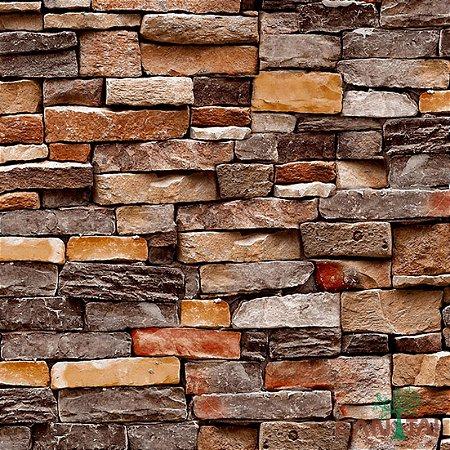 Papel de Parede Stone Age - Tijolo Pedras vivido - SN601201R