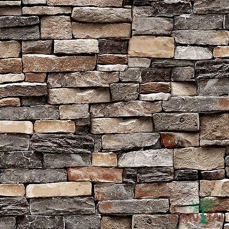 Papel de Parede Stone Age - Tijolo Pedras - SN601202R