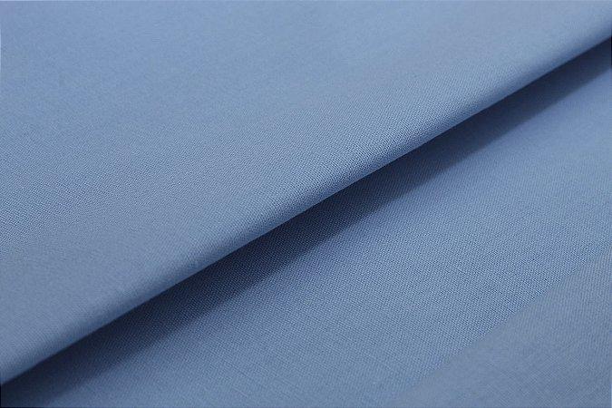 Tecido Tricoline Azul Bebê Liso 100% Algodão com 1,50 metros de largura - 2869