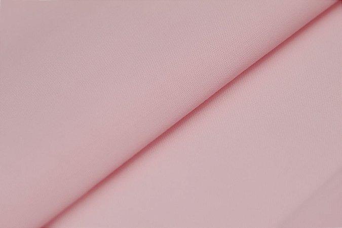 Tecido Tricoline Rosa Bebê liso 100% Algodão com 1,50 metros de largura - 1687