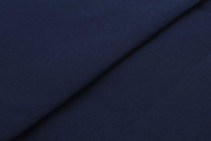 Tecido Tricoline Azul Marinho liso 100% Algodão com 1,50 metros de largura - 027