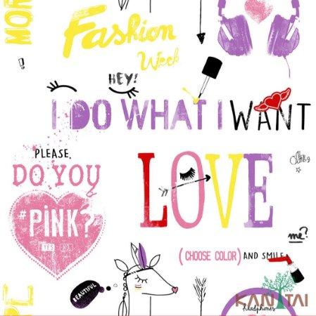 Papel de Parede Stone Age - I do what i want - Lilas - SN601502R
