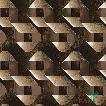 Papel de Parede Stone Age - Laços Textura de madeira -Tons de Marrom - SN602503R