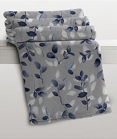 Manta Casal Estampada Valentina Microfibra Corttex Home Design 1,80 x 2,20 mts