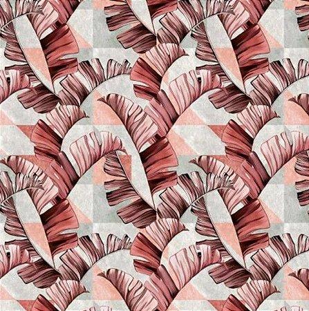 Tecido para Moveis Ravena Geométrico Rosa- Acquablock 41