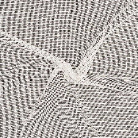 Tecido Para Cortina Voil Tricô  Branco Largura 3,00m - Tricô 01