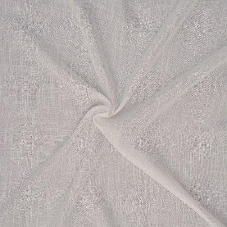 Tecido Para Cortina Voil Luxor Off White - Largura 3,00m - Luxor 01