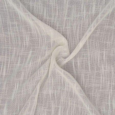 Tecido Para Cortina Voil Damasco Off white - Largura 3,00m - Damasco 02
