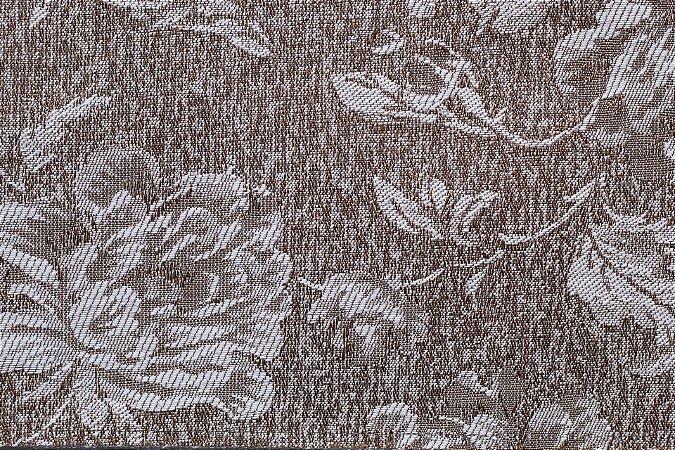 Tecido Jacquard Marrom Pinho Flor - PAN 113