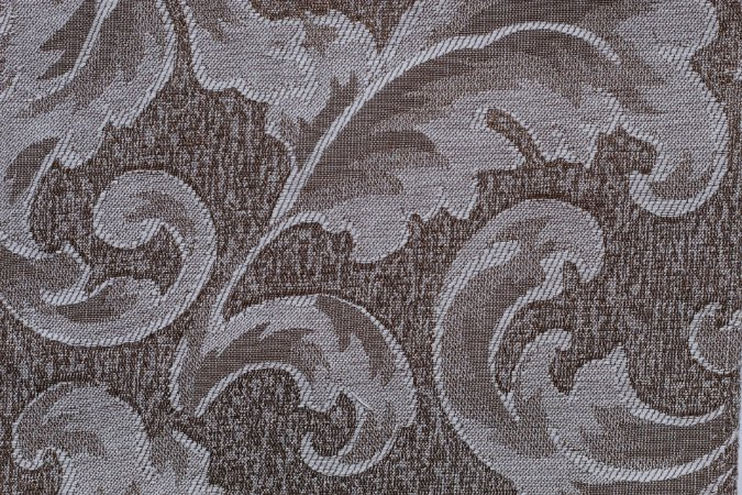 Tecido Jacquard Marrom Pinho Floral - PAN 115