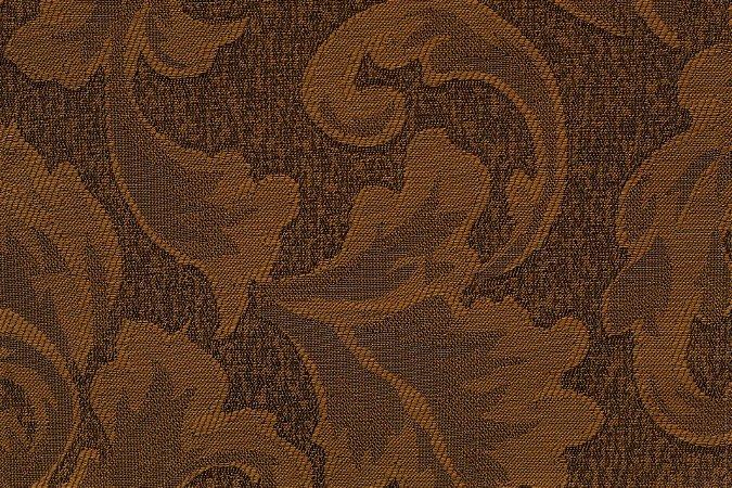Tecido Jacquard Laranja Floral - PAN 123
