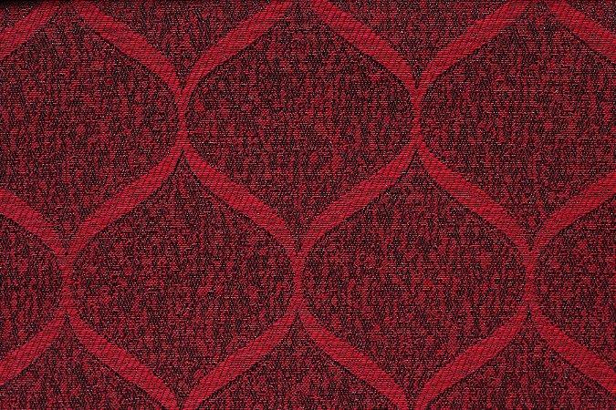 Tecido Jacquard Vermelho Ondas - PAN 130