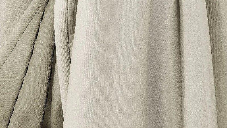 Tecido para Cortina American Poli Sarja Bege - Largura 2,80m - AME-03