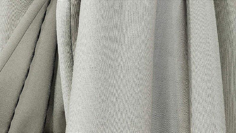 Tecido para Cortina American Linho San Rafhael Cinza - Largura 2,90m - AME-11