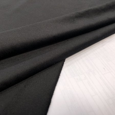 Tecido Veludo para Cortina 2,80 de largura - Preto - SIL08