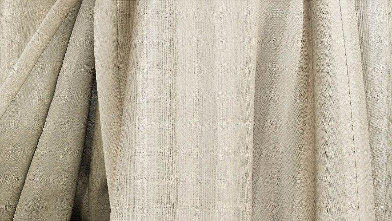 Tecido para Cortina American Gorgurinho Shantung Listrado Marfim - Largura 2,90m - AME-15