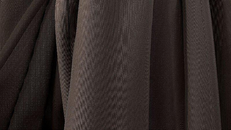 Tecido para Cortina American Gorgurinho Shantung Marrom - Largura 2,90m - AME-22
