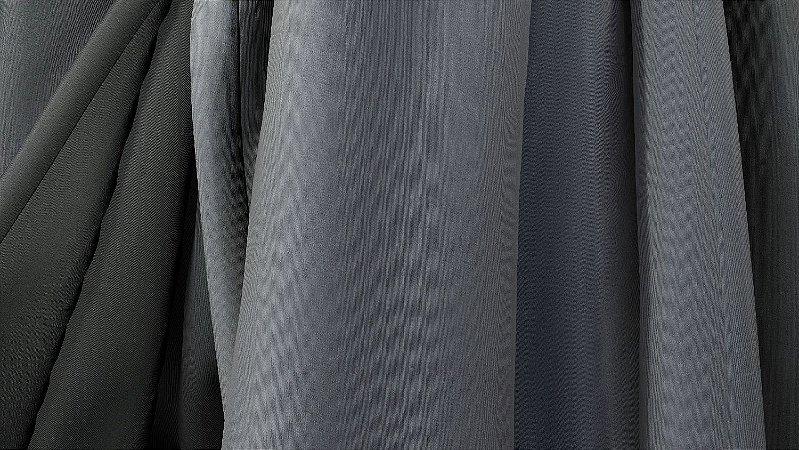 Tecido para Cortina American Gorgurinho Shantung Chumbo - Largura 2,90m - AME-23