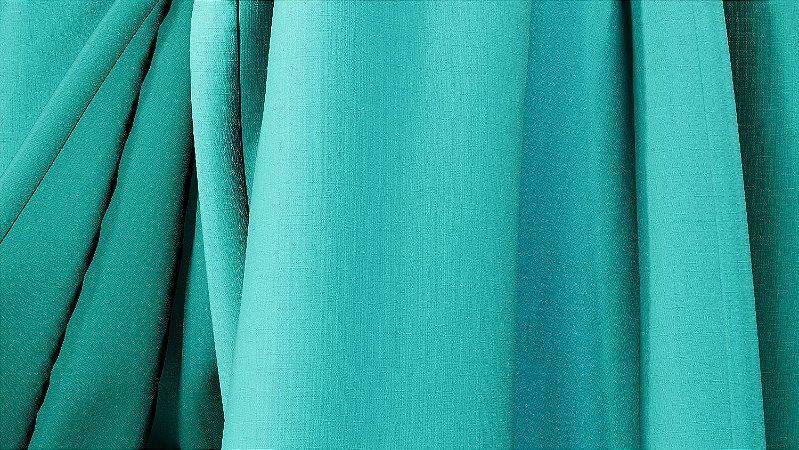 Tecido Para Cortina American Rafia Azul - Largura 3,00m - AME-36