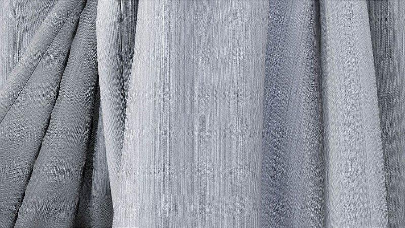 Tecido para Cortina American Madras Cinza - Largura 2,90m - AME-50