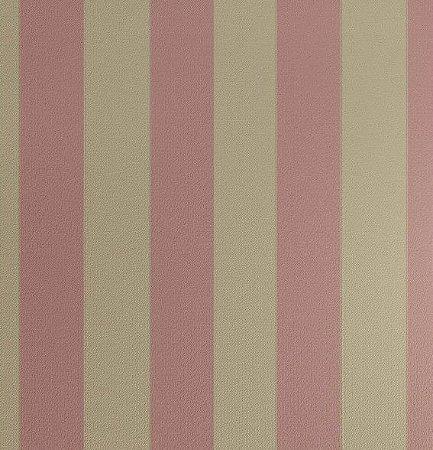 Tecido Jacquard Algodão Faixas Rosa com Dourado Para Cortinas Com 2,80 de Largura - EUR46