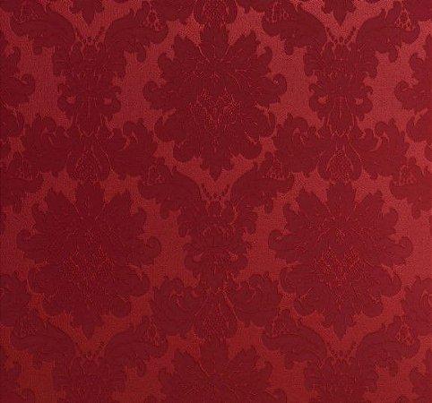 Tecido Jacquard Algodão Medalhão Vermelho Para Cortinas Com 2,80 de Largura - EUR50