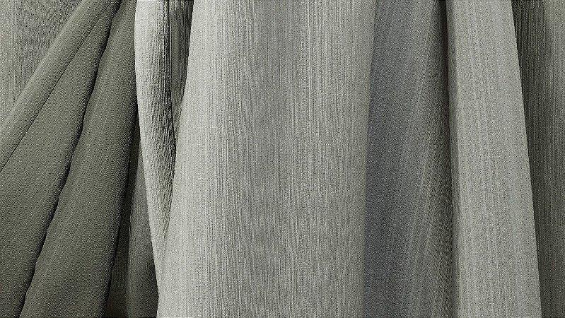 Tecido para Cortina American Chefron liso Cinza - Largura 2,90m - AME-110