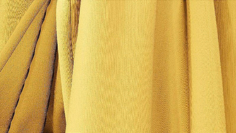 Tecido para Cortina American Chefron liso Mostarda - Largura 2,90m - AME-113