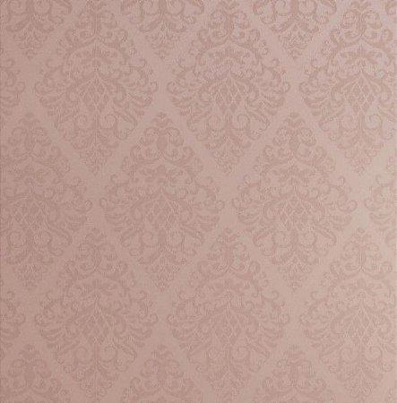 Tecido Jacquard Algodão Light Medalhão Rose Para Cortinas Com 2,80 de Largura - EUR75