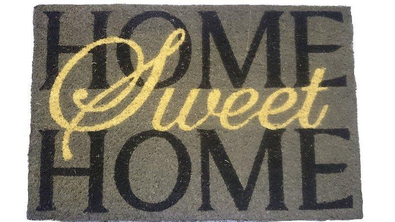 Capacho fibra de coco, antiderrapante 40x60 cm Sweet Home