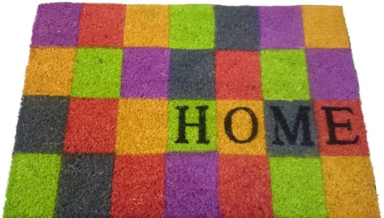 Capacho fibra de coco, antiderrapante 40x60 cm Home Colors