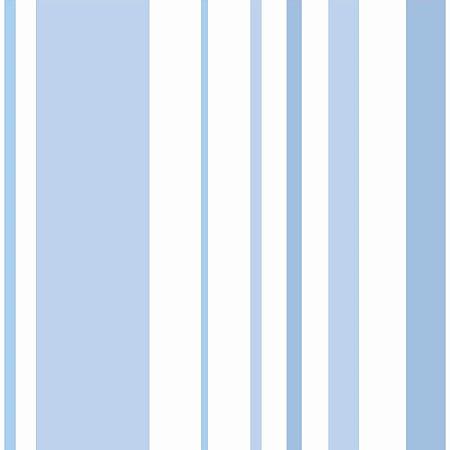 Papel de Parede Listrado Azul Bebê - DI0908A
