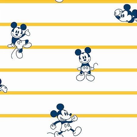 Papel de Parede Mickey Listras Amarelo - DI0931A