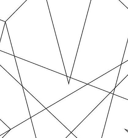 Papel de Parede Geometrico Preto e Branco - DI0942A