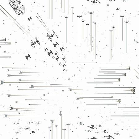 Papel de Parede Star Wars Galáxia Cinza - DI0952A