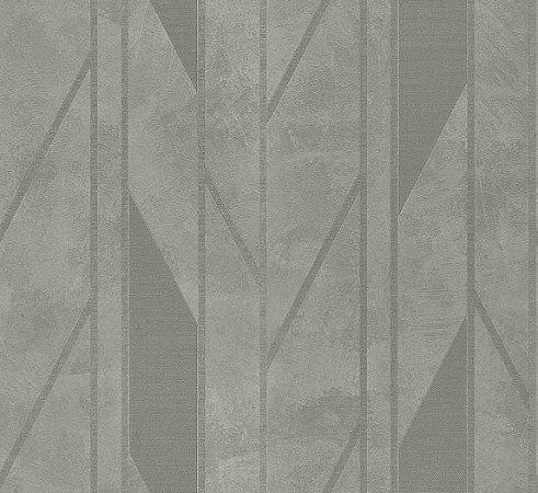 Papel de Parede Lamborghini Texturizado Geometrico Cinza Escuro com Fundo Cimento  -  Z44817