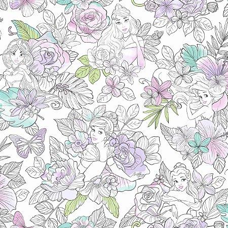 Papel de Parede Princesas Orquídeas - DI0964A