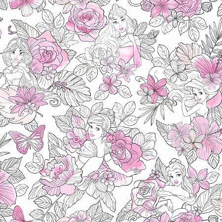 Papel de Parede Princesas Rosa - DI0965A