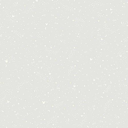 Papel de Parede Mickey Sonhos Cinza - DI0987A