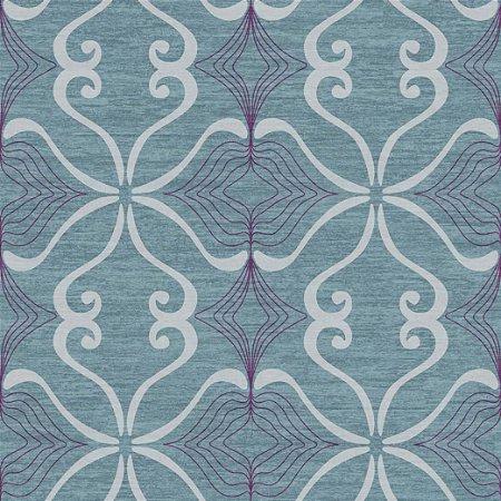 Papel de Parede Arabesco Azul Aço - JY10105
