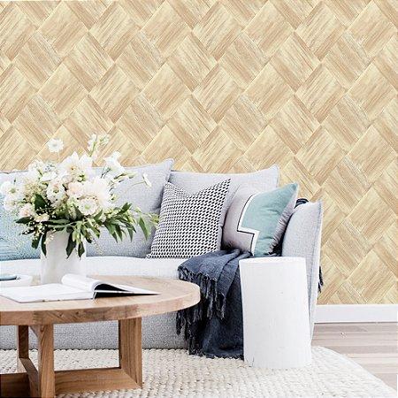 Papel de Parede Laroche - Mosaico Escovado Bege  -  SU10103