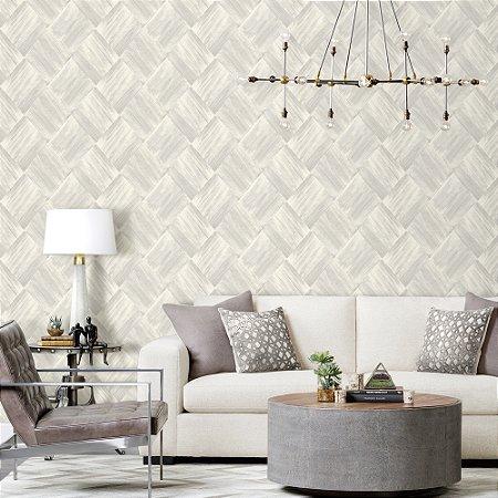 Papel de Parede Laroche - Mosaico Escovado Cinza - SU10108