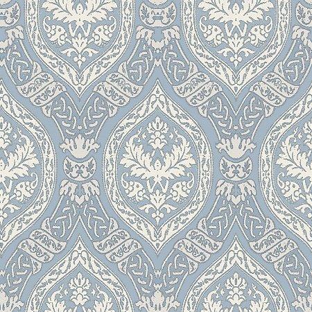 Papel de Parede Brasão Azul Gelo - PR8314