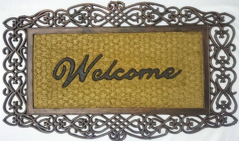Capacho fibra de coco, antiderrapante 45x75 cm Welcome II