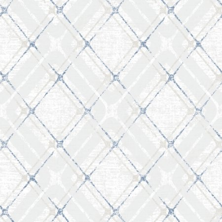 Papel De Parede Winster - Amarrações Azul Com Perola - IH-20042